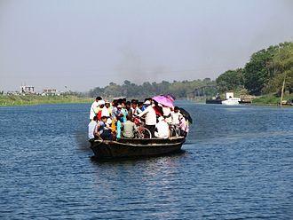 Mayapur - Crossing the Jalangi river at Mayapur