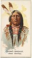 Crow's Breast, Gros Ventres, from the American Indian Chiefs series (N2) for Allen & Ginter Cigarettes Brands MET DP828033.jpg