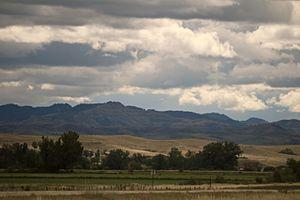 Crow Agency, Montana - Landforms near Crow Agency, Montana