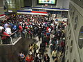 Crowds at Tobalaba station.jpg