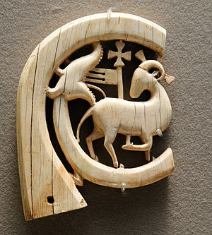 Agnus Dei (music) - 13th century carved Agnus Dei in ivory, Louvre.