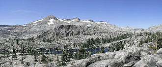 Desolation Wilderness - The Crystal Range as seen from Desolation Valley near Lake Aloha