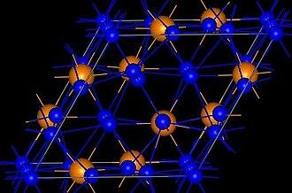 Copper(I) phosphide - Image: Cu 3Pstructure