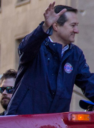 Thomas S. Ricketts - Ricketts during the victory parade following the Cubs 2016 World Series victory