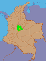 Location of Cundinamarca