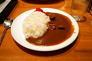 Japanese curry - Image: Curry rice by Hyougushi in Kyoto
