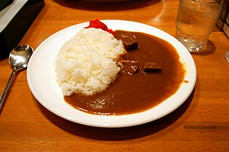 Japanese curry - A plate of Japanese style curry with rice