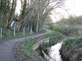 Cycle route along brook - geograph.org.uk - 759605.jpg