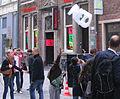 Düsseldorf, Flinger Straße, Schaum-Werbeaktion der Firma Neo (2).jpg