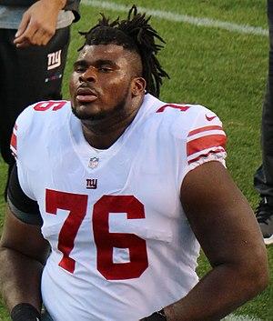 D. J. Fluker - Fluker with the New York Giants in 2017.