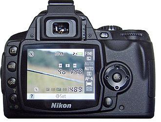 Nikon D40 - Image: D40 back