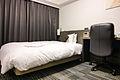 Daiwa Roynet Hotels business single bedroom 20120310-001.jpg