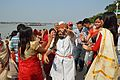 Dancing Devotees - Durga Idol Immersion Ceremony - Baja Kadamtala Ghat - Kolkata 2012-10-24 1322.JPG