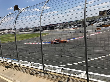 "Daniel Suarez testing the ""Roval"" course in July 2018. Daniel Suarez at the ROVAL.jpg"