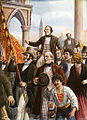 Daniele Manin and Niccolo Tommaseo freed from prison 18 March 1848.jpg