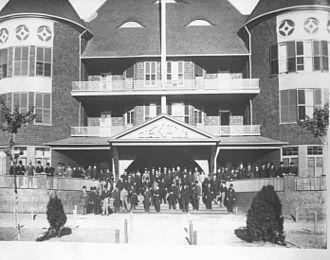 Fort Payne, Alabama - The DeKalb Hotel, built in the Boom in 1889, burned 1918.