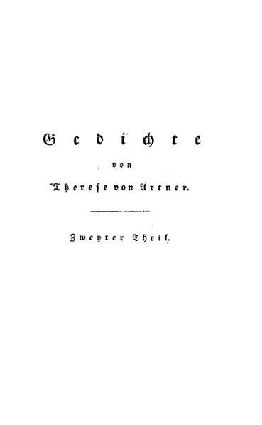 File:De Gedichte von Therese von Artner (Zweyter Theil).djvu