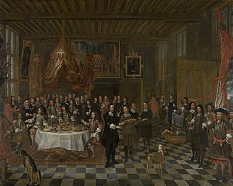 Jan Baptist van Meunincxhove - Reception of Charles II and his Brother by the Bruges Guild of St Barbara