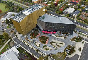 Deakin University - Deakin University's Building BC in Burwood from the air