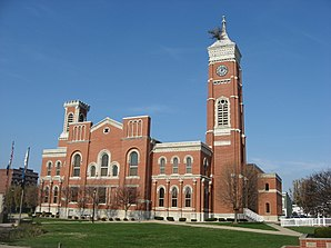 Decatur County Courthouse in Greensburg from southeast.jpg