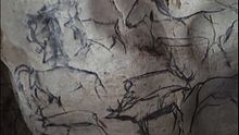 prehistoric artists painted images in the ____ of the caves