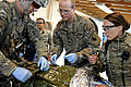 Defense.gov News Photo 111225-F-WB609-085 - U.S. Army Sgt. 1st Class Robert Russell and U.S. Air Force Capts. Michael Madsen and Leslee Kane provide emergency medical treatment for an Afghan.jpg