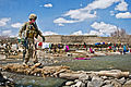Defense.gov News Photo 120404-A-FV376-291 - U.S. Army Sgt. Michael Trevino uses a foot bridge to cross a swollen river outside of the village of Marzak in Afghanistan s Paktika province on.jpg