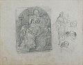 Dehodencq A. - Pencil - Etude d'une scène religieuse et de ses personnages 23x17.9cm.jpg