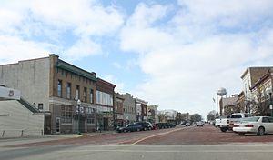 Delavan, Wisconsin - Looking west at downtown Delavan