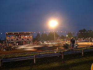 Demolition derby - A demolition derby under way at the Greenwich, Ohio Firemen's Festival, 2005
