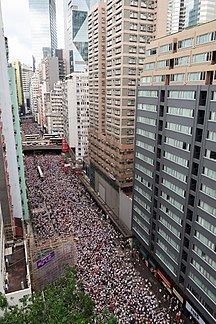 --Fil:Demonstration in Wan Chai Hennessy Road overview 20190609