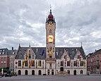 Dendermonde town hall and belfry during civil twilight (DSCF0517).jpg