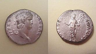 Colossus of Nero - Coin of Emperor Nero showing the Colossus