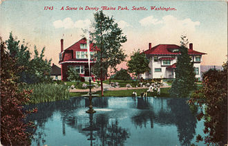 Denny-Blaine Park (Seattle) - Denny-Blaine Park in 1912