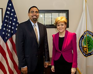 John King Jr. - King meets First Minister of Scotland, Nicola Sturgeon, June 2015