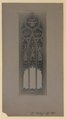 Design for standard painted architectural ornamental framework in glass for memorial windows of the Metropolitan Church, Toronto (HS85-10-32798) original.tif