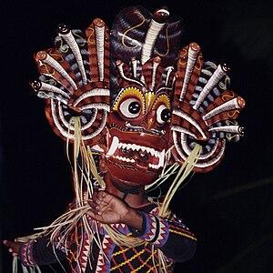 Devil's mask Naga raksha, Sri Lanka Polski: Ma...