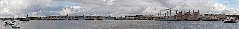 Devonport dockyard from Torpoint ferry.jpg