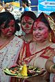 Devotees - Durga Idol Immersion Ceremony - Baja Kadamtala Ghat - Kolkata 2012-10-24 1374.JPG