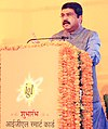 Dharmendra Pradhan addressing the gathering, at the launch of the IGL Smart Card, prepaid CNG cards for both retail and fleet customers, in New Delhi.jpg