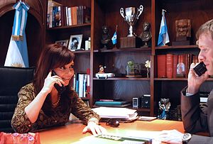 Español: La presidenta Cristina Fernández, en ...