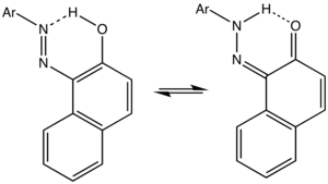 Azo dye - Image: Diazonaphthol Equil