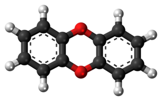Dibenzo-1,4-dioxin - Image: Dibenzo 1,4 dioxin 3D balls