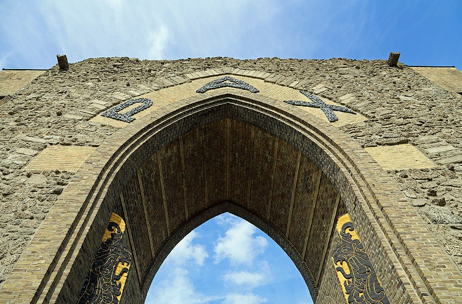 Diksmuide (Belgium): the Paxpoort (Gate of Peace) - detail