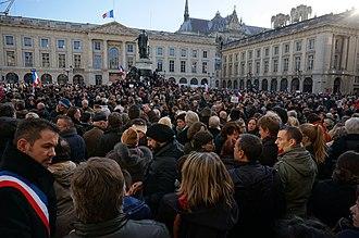 Republican marches - Image: Dimanche 11 janv 2015 Reims soutien à Charlie 05969