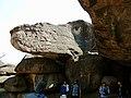 Dinosaur rock at bheembetka.jpg