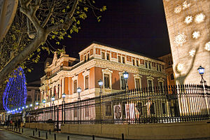 Albacete - Provincial Palace, home of the Council of Albacete.