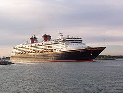 Die Disney Magic verlässt Port Canaveral