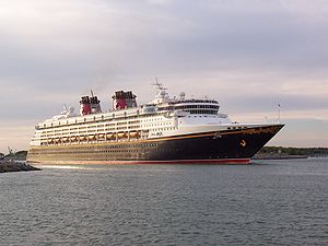 Disney Magic - Disney Magic departing Port Canaveral.