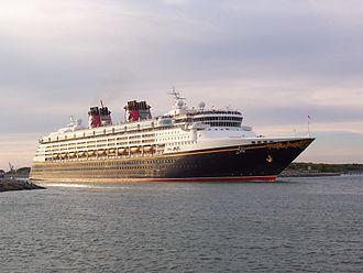 Disney Magic - Disney Magic departing Port Canaveral.